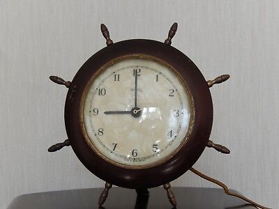 smiths clock ships wheel mother of pearl face