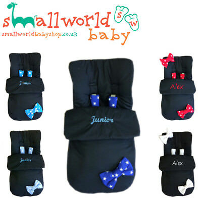 Universal Footmuff Cosy Toes Personalised Pram Buggy Stroller Boys  Girls