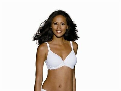 c68f62ba6c5f7 NEW Bali 38DD One Smooth U Ultra Light Embroider Underwire 3443 Bra White   50428