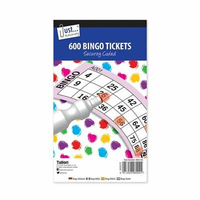 600x Jumbo Bingo Tickets Book Pad 100 Sheet Raffle Security Coded