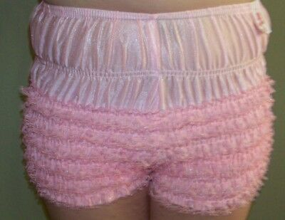 NEW Sam's Petti-Pants Sissy Pageant Costume Girls PINK LACE Underwear Med