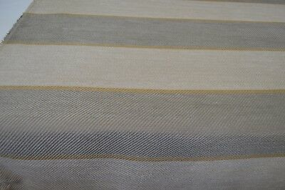 grey cream twill style upholstery fabric striped caravan sofa chair thick robust