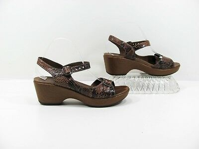 92117b182f43c Dansko Women Brown Ankle Strap Wedge Sandal Shoe Size 9M EUR 40 Pre Owned