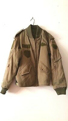 Vintage Canadian Army Air Force Olive Surplus Flight Jacket Men's Large (L) 7040