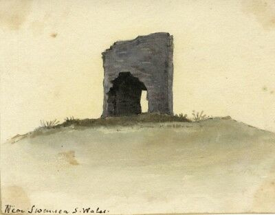 David Mocatta, Ruined Arch, Swansea - early 19th-century watercolour painting