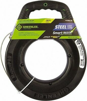 Greenlee 150 Ft. Long x 1/8 Inch Wide, Steel Fish Tape Includes Case