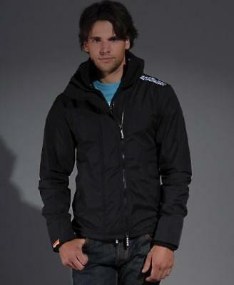 Superdry Black Windcheater Jacket size XL New with Tags Blue Coat