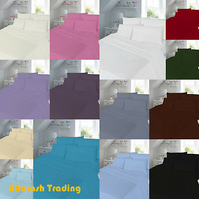 """Percale Extra Deep Fitted Sheets 16""""/40cm Depth 180 Threads Elastic Fitted T180"""