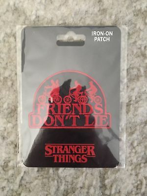 Stranger Things Friends Don't Lie Iron On Patch NETFLIX LICENSED OFFICIAL MERCH