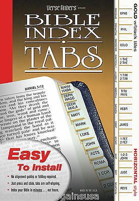 LONG LASTING Gold Bible Index Tabs Book Labels EZ Install COMPLETE Set All Bible