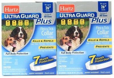 2 Hartz Ultra Guard Plus Flea & Tick Collar 7 Month Protection Water Resistant