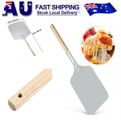 66cm Aluminum Pizza Peel Shovel with Wooden Handle Paddle Pancake Oven Baking AU