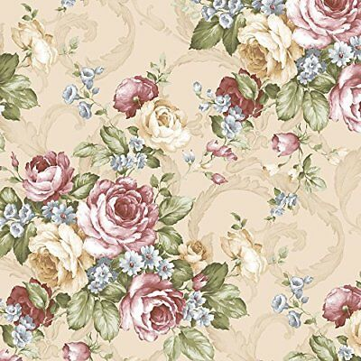 Norwall CH22529 Grand Floral Wallpaper