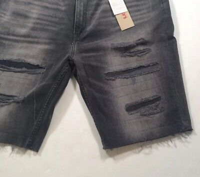 4079d58c Levis Levi's Men 511 Slim Distressed Ripped Repaired Cutoff Jeans Shorts  Pants