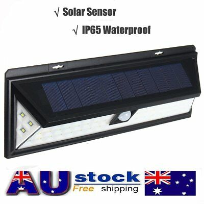 54 LED Solar Power Wall Light PIR Motion Sensor Outdoor Garden Security Lamp AU