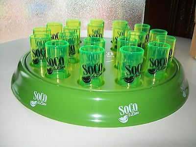 SO CO & LIME FREEZABLE COCKTAIL TRAY w/47 SHOT GLASSES / SOUTHERN COMFORT
