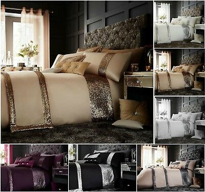 Luxurious New Glamorous Duvet Cover+PillowCase Bedding Sets Or Runners All Size