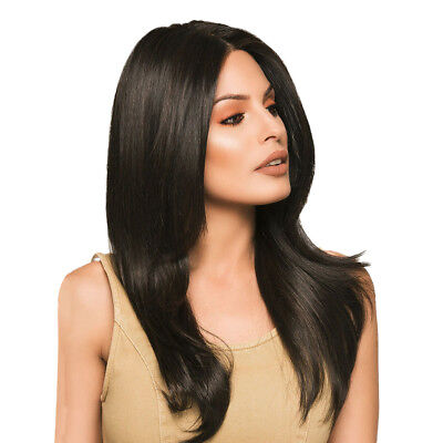 """Long Straight Hair Wig Black Full Wig for Women Middle Part Costome Wigs 24"""""""