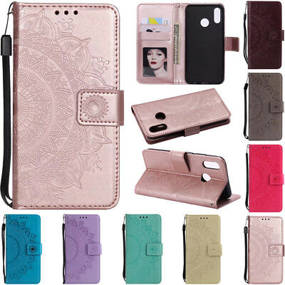 For Huawei P20 P8 P9 Lite 2017 Wallet Leather Card Flip Kickstand TPU Case Cover