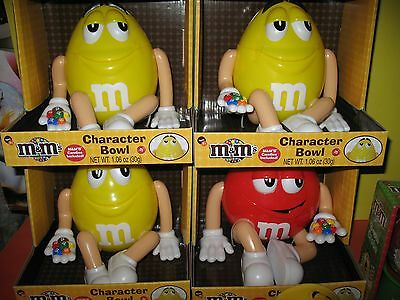 "M&m's ""6"" Piece Collection  - Character Bowls, Red, Yellow  Mug & Plush"