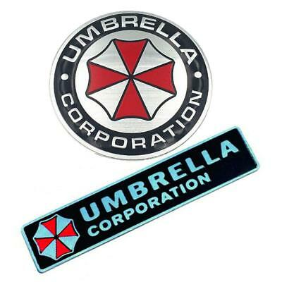 3D Resident Evil Umbrella Corporation Car Sticker Badge Emblem Metal Plating bd