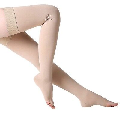 Compression Sock 30-40mmhg Thigh High Support Stockings Medical Relief  Open Toe