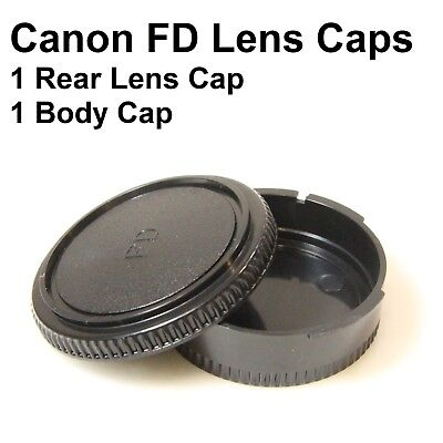 Canon FD Rear Lens Cap and Body Cap FD Caps A1 AE-1 Program AV-1 AL-1 F1 (CFDX1)