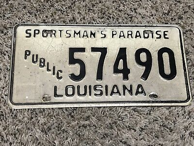 Louisiana Public Works License 70s-80s Only One On eBay ¡¡Great Find!!