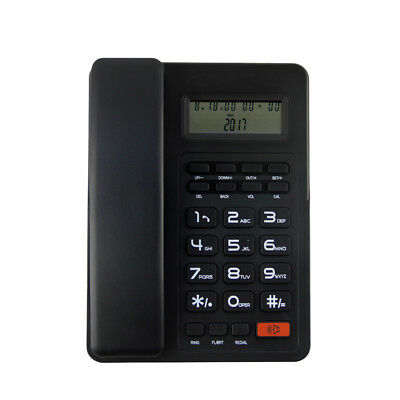 New Pro Wall Mount Corded Phone Telephone Home Office Business Desktop Caller ID