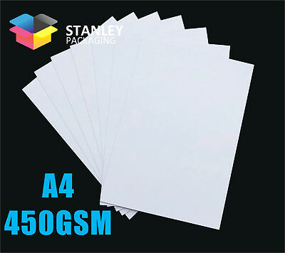 A4 Size Cardboard 450gsm White Card 210mm x 297mm