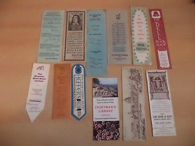 job lot d OLD VINTAGE ANTIQUE BOOKMARK BOOK MARKER ADVERTISING shops everymans