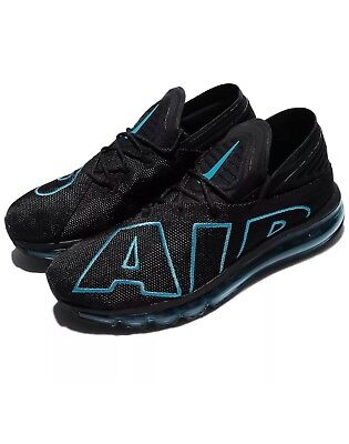 a68380d0a70 Nike Air Max Flair Mens 942236-010 Black Neo Turquoise Running Shoes Size 11