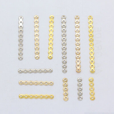 30p 5 Hole 7 Hole 10 Hole 13 Hole Silver Gold Plated Spacer Bars Beads Connector