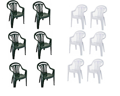 Plastic Garden Low Back Chair Patio Lawn Camping Picnic Party Chairs Armchair