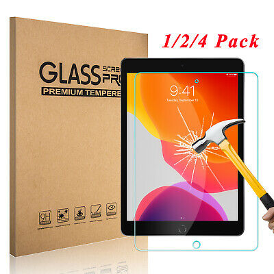 """4 Pack Premium 9H HD Tempered Glass Screen Protector For iPad 9.7"""" 2018 6th Gen"""