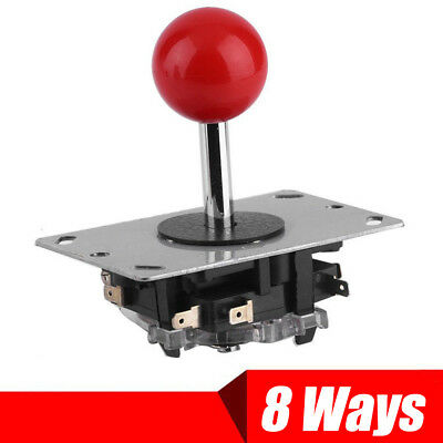 8 Way Arcade Joystick with Microswitches Replacement Parts For Mame Jamma Red US