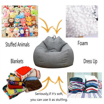 Waterproof Kids Bean Bag Toy Storage Cover Chair Soft Toy Bag Home Organizer