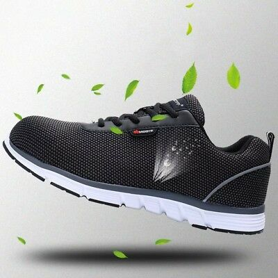 New Men Safety Steel Toe Work Shoes Lightweight Breathable Casual sneaker