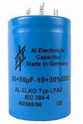 F&T Electrolytic Cap - Dual 50uf 500v Can - for Vintage Marshalls and Hiwatt