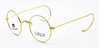 Retro Vintage Antique  Round Wire Rimmed Eyeglass Frames Rx Spectacles Glasses