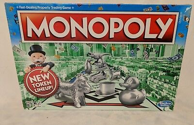 Monopoly  Board Game New Token Lineup Dinosaur Duck Cat Sealed
