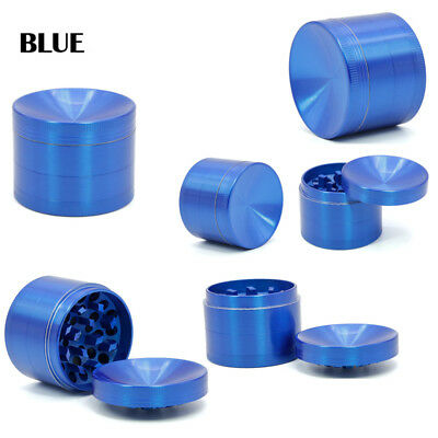 Blue 4 Piece Herb/Spice/Weed Alloy Smoke Crusher 40mm Tobacco Grinder