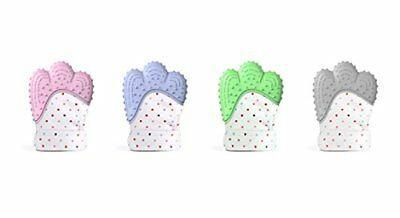 Teething Silicone Baby Mitten Glove Candy Wrapper Teether Sound Mitts Soft Safe