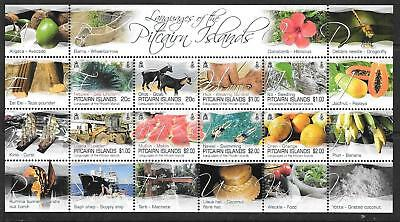 Pitcairn Islands 2016 Languages Sheetlet Mnh