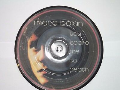 "Marc Bolan You Scare Me To Death 7"" Pic Disc. Cherry Red Records. A1 Condition"