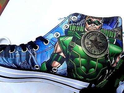 4832edafc9ab CONVERSE CHUCK TAYLOR ALL STAR HI Shoes Green Arrow DC Comics SIZE ...