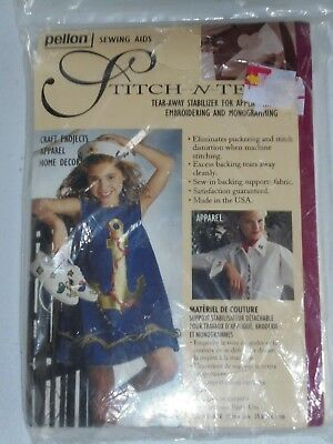 Pellon Stitch n Tear Away Stabilizer for Embroidery & Monogramming NEW 22 x 36