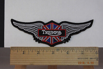 "Triumph  British Motorcycle Embroidered Iron-on Patch~6"" x 2"""