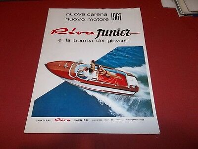 Pubblicita 1967 Werbung Advertising  Speedboat Motoscafo Riva Sarnico Junior