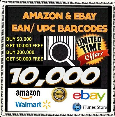 10000 UPC GS1 Numbers Barcodes Bar Guarantee Code GS1 ssue